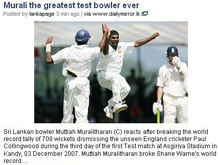 murali the greatest test bowler ever